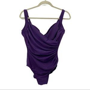 MiracleSuit Underwire Purple Size 10